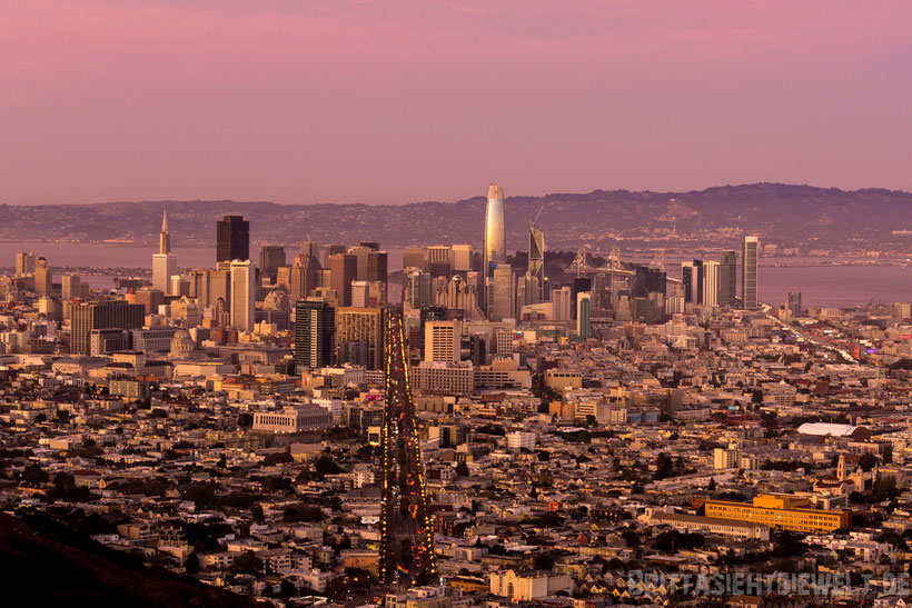 twin,peaks,san,francisco,view,sunset,night,night,lights,long,exposure,downtown