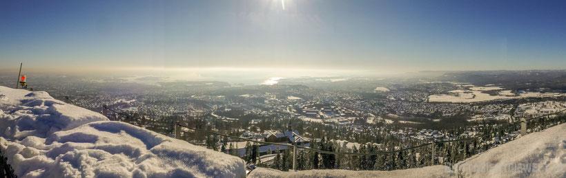 holmenkollen,oslo,skisprungschanze,tipps,winter,aussicht,tipps,schnee