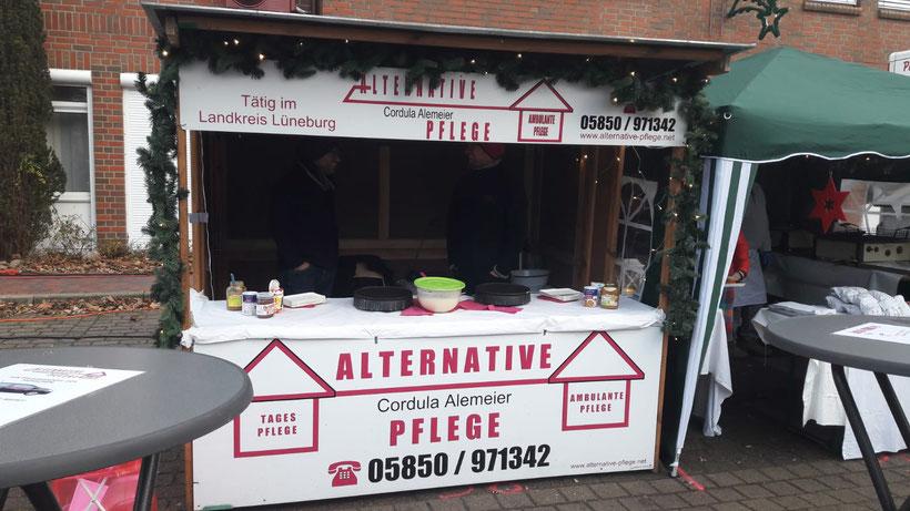 Crêpes-Stand Alternative Pflege Weihnachtsmarkt Neetze 2018