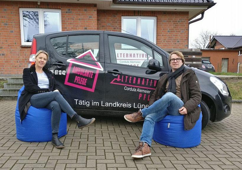 Spendenübergabe der Alternativen Pflege an die Jugendpflege Bleckede Neetze