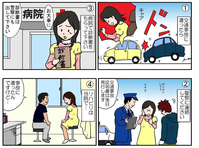 交通事故にあったらまずは、お電話ください。丁寧にご説明します。