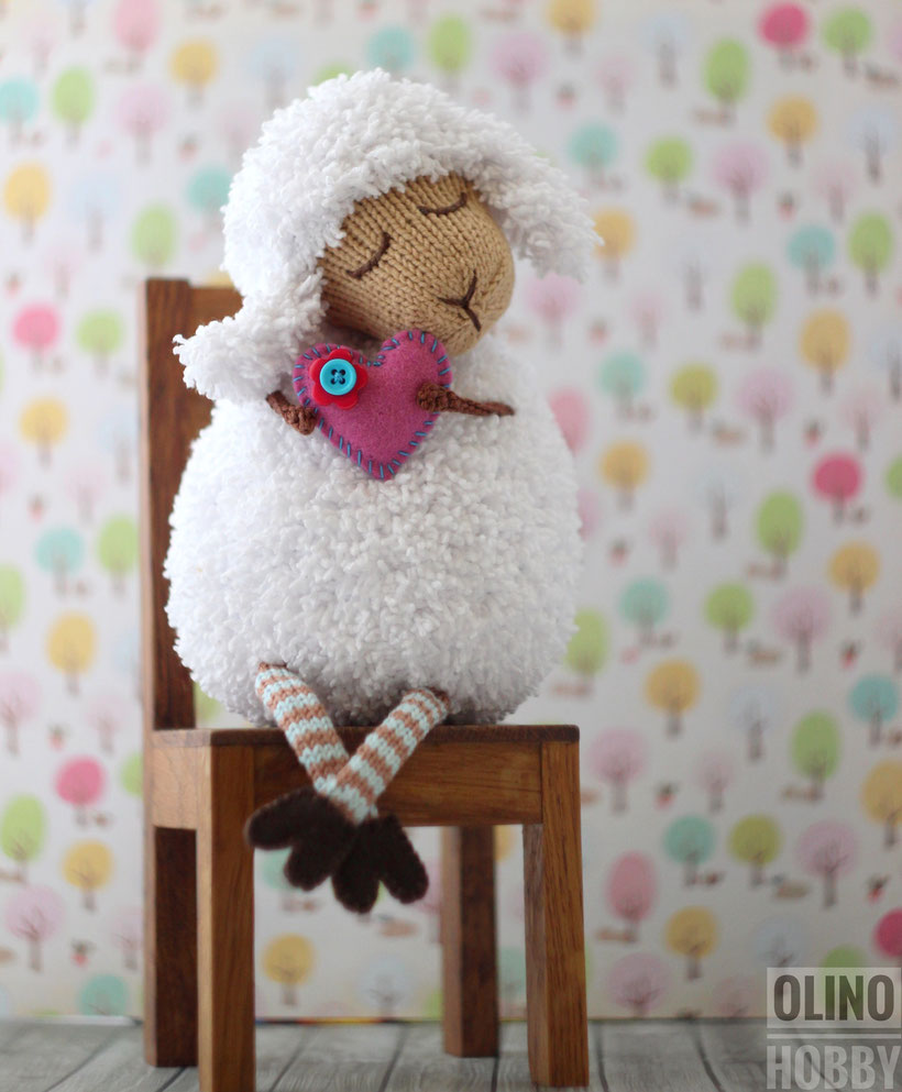 Knitted Sheep Toy romantic gift