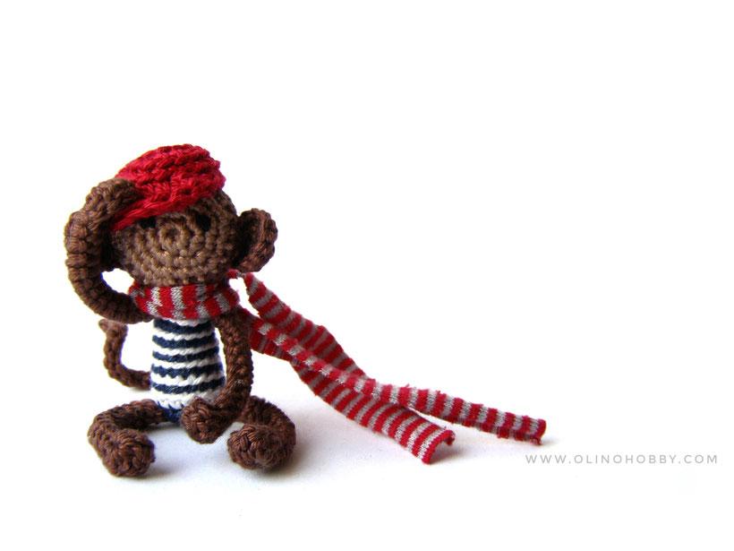 Crochet Monkey miniature toy