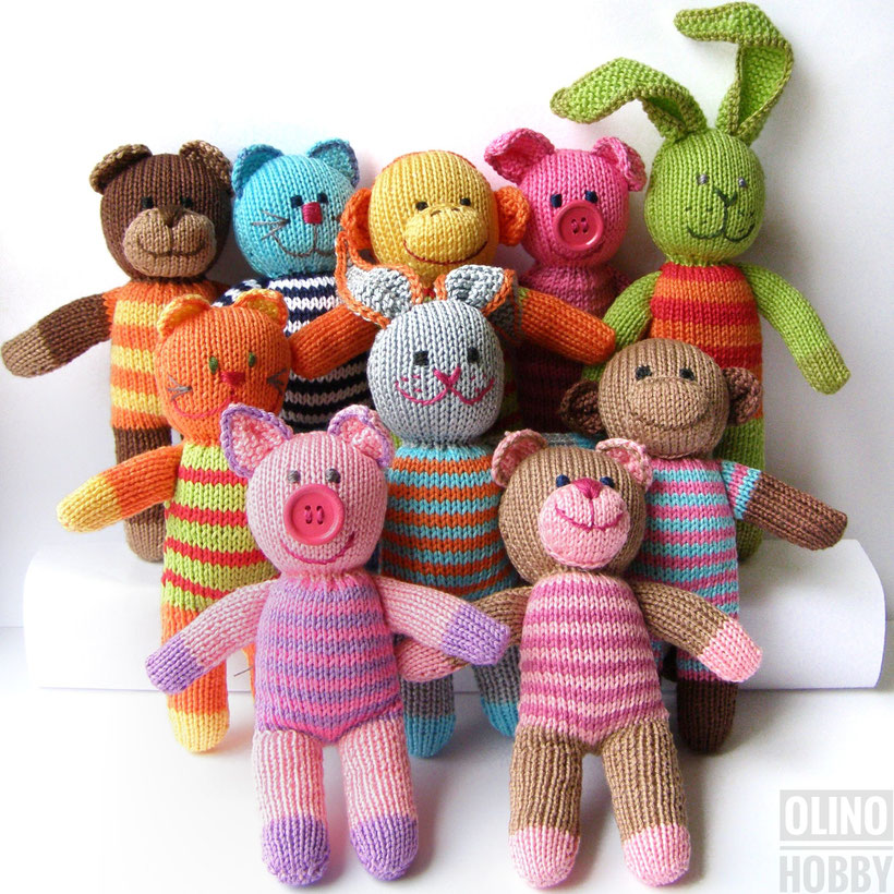 Knitted Animal Dolls