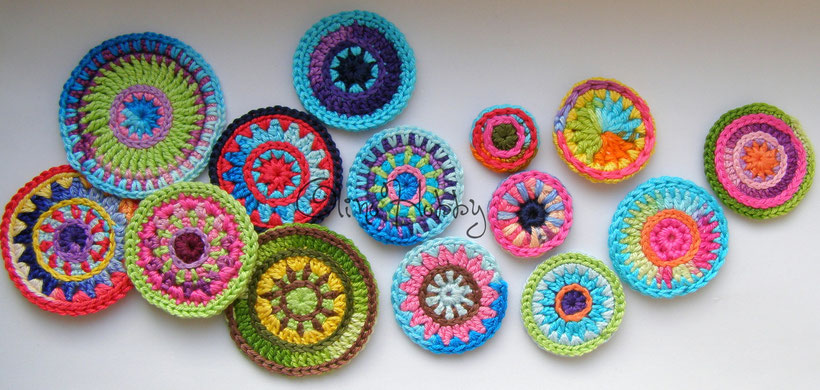 crochet mandala, crochet circle