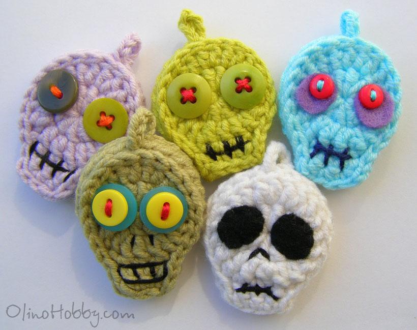 crochet keychaim Zombies