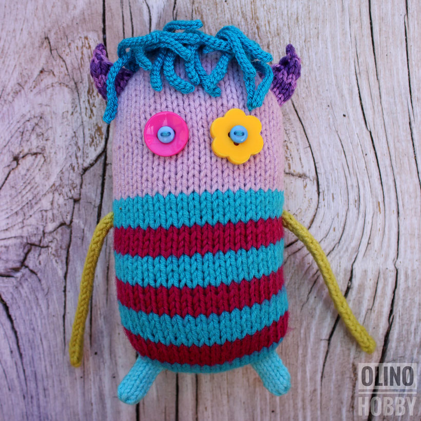 Knitted Striped Monster