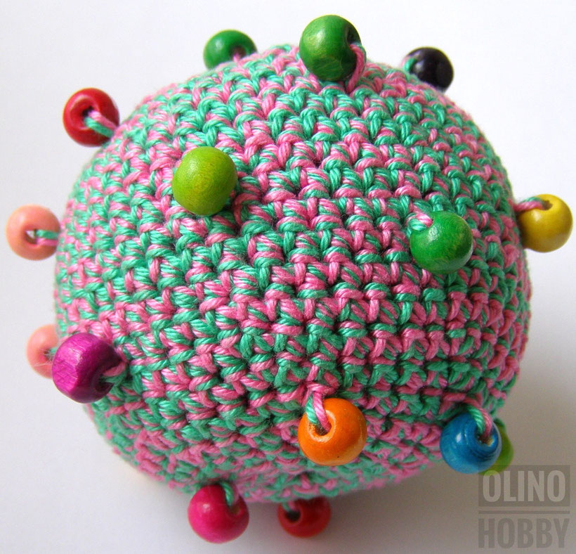Crochet ball with beads