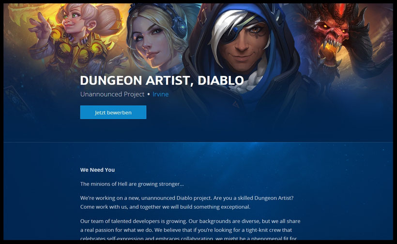 Diablo 4 inoffizielle Ankündigung