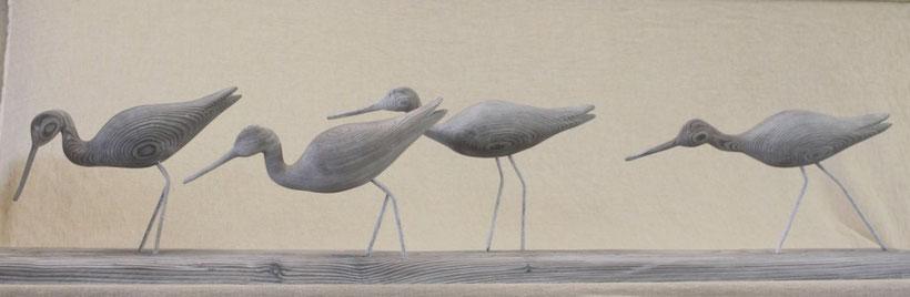 sculpture d'oiseau en bois