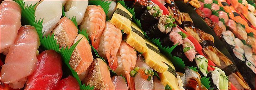 中央区 宅配寿司 4人前 大量注文
