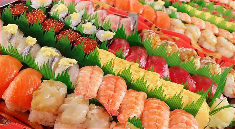 大量注文 宅配寿司
