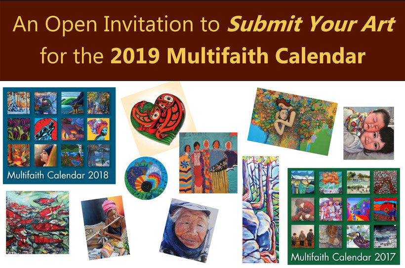 2019 Multifaith Calendar Call for Submissions : NOW CLOSED