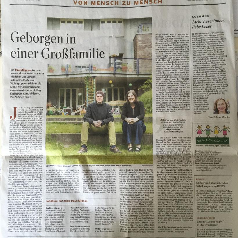 Hamburger Abendblatt vom 30.5.2015