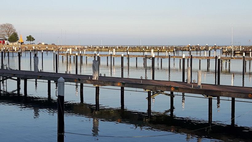 Hafen von Damp Januar 2018    eb