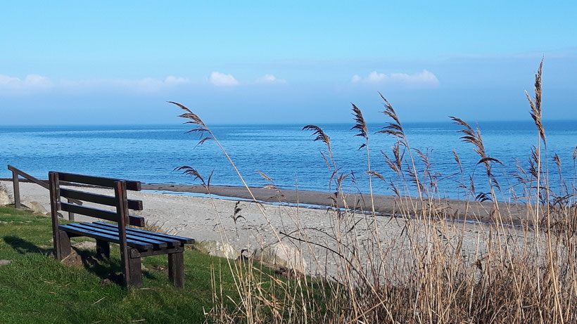 Ostseestrand vor Booknis, Januar 2018  -  eb