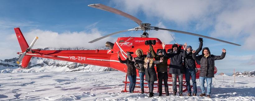 Elite Flights, HB-ZPF, AS 350 B2 Ecureuil Helikopterflug, Alpenflug mit Gletscherlandung, Firmenausflug, Frimensausflüge, Team Event, Petersgrat