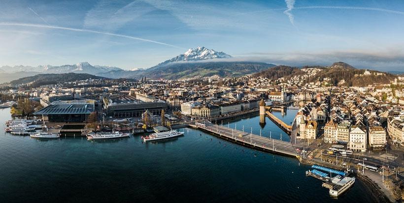 Elite Flights, Rundflüge, Helikopterflug, Luftaufnahme, Fotoflug, Luzern, Vierwaldstättersee