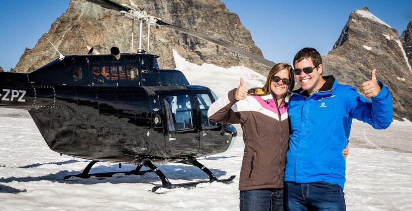 Elite Flights, Bell 206 Jet Ranger, HB-ZPZ, Alpenrundflug mit Gletscherlandung, Alpenflug, Helikopterflug, Gletscherflug, Gletscherapéro, Petersgra