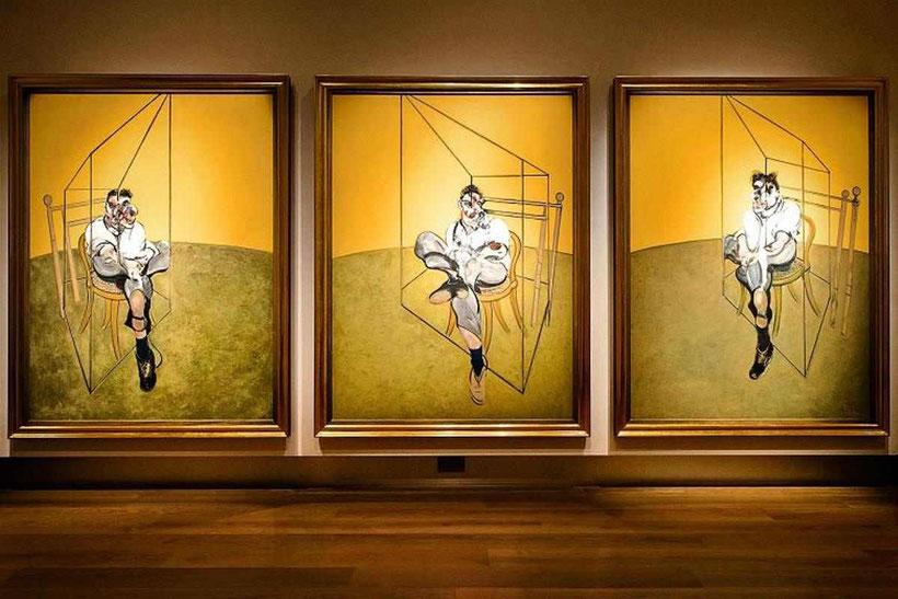 Три наброска к портрету Люсьена Фрейда - самые дорогие картины Фрэнсиса Бэкона