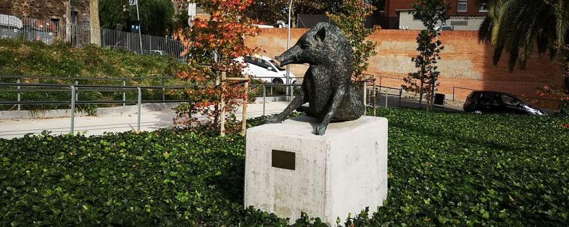 Кабаны в Барселоне получили свой памятник