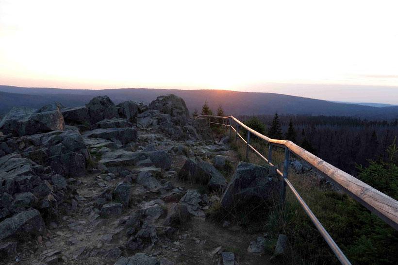 Sonnenuntergang, Achtermann, Mittelgebirge, Harz