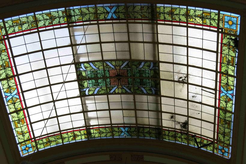 Mosaik, Bleiglas, Bleiglas, Bahnhofsgebäude Bad Harzburg