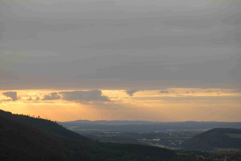 Burgberg, Bad Harzburg, Harz, Sonnenuntergang