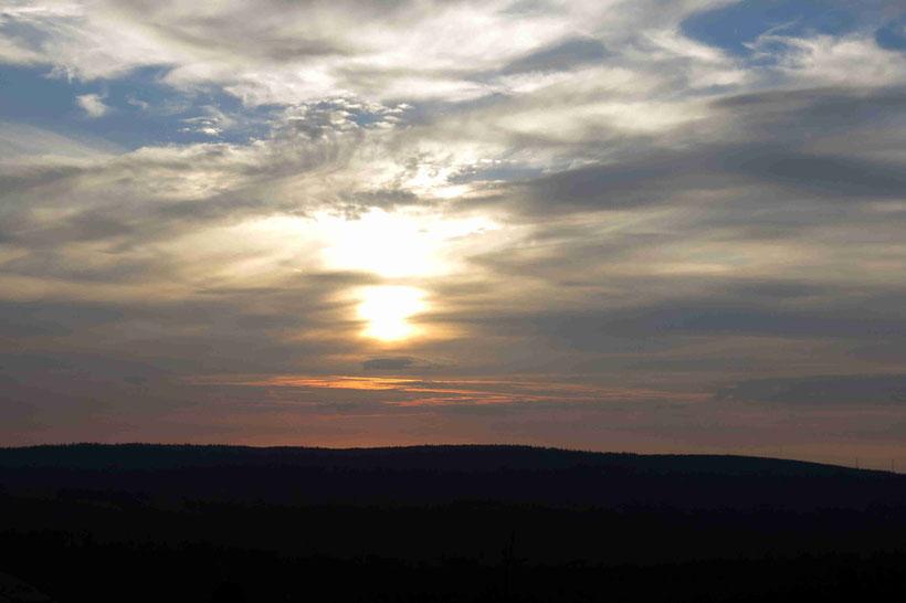 Sonnenuntergang, Harz, Achtermann