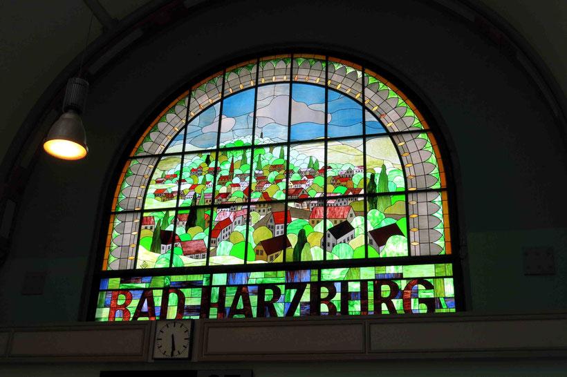 Bleiglasfenster, Mosaik, Bahnhofsgebäude Bad Harzburg