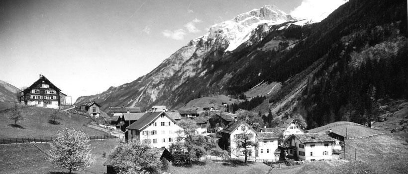 Blick vom Schulhaus gegen Norden, ca. 1930
