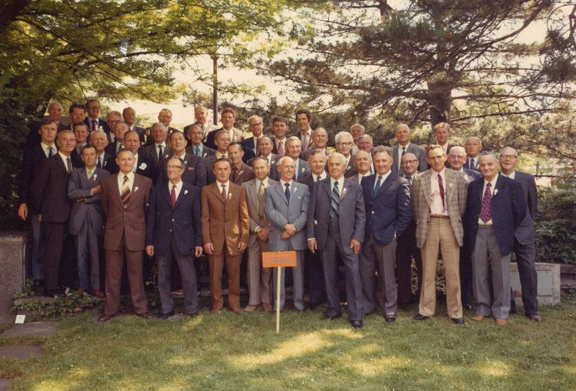 Männerchor Frohsinn Schwanden mit Sooler Mitgliedern ca. 1973