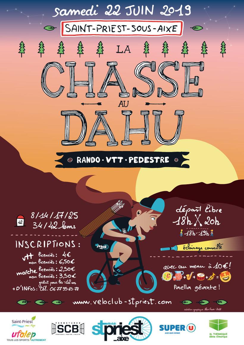 La Chasse au Dahu 2018 - Vélo Club Saint-Priest-sous-Aixe - Rando - VTT - Pédéstre
