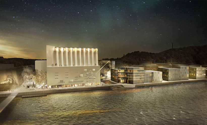 Figura 1: Render del Museo de Arte Contemporáneo de Kristiansand, Noruega