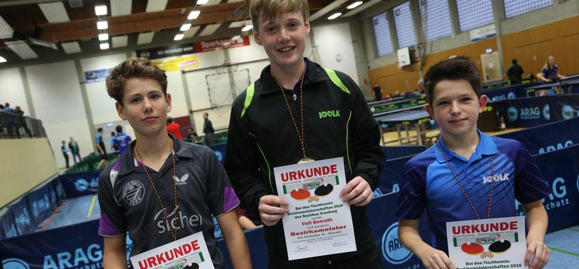 Veit gewinnt vor Luca und Aaron! Herzlichen Glückwunsch!