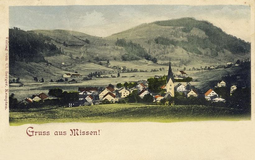 Missen im Allgäu - Postkarte anno 1912