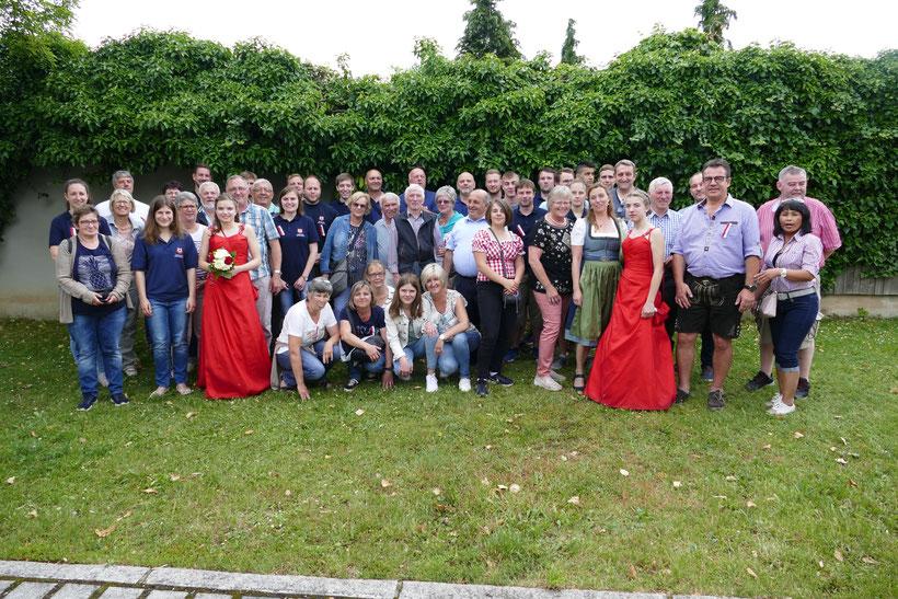 Feuerwehrausflug 2019 Gruppenbild Regensburg - Besuch 150 Jahre Altegolfsheim