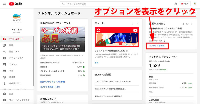 YouTubeの著作権侵害の申し立てに対する異議申し立て方法