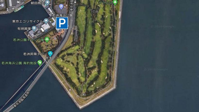 駐車場 パーキン グシーバスナイトゲーム ハクパターンのシーバス釣り 東京湾奥一級河川 中川下流で良型60cmゲット 釣り松TV