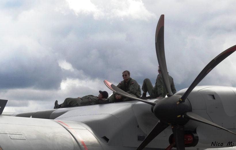 Soldaten der Polnischen Luftstreitkräfte