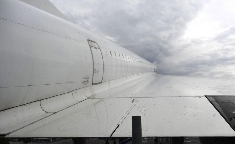 Blick über die Tragfläche der Concorde