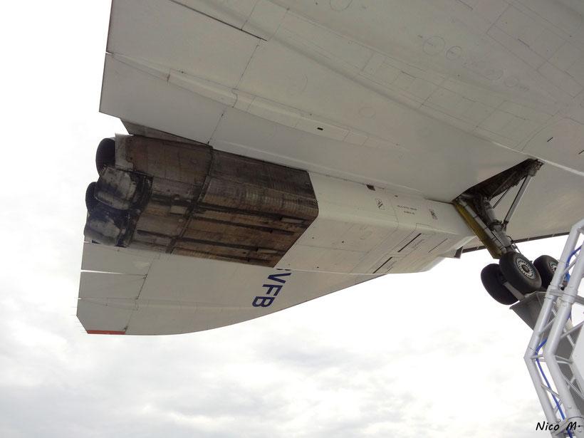 Eines der Triebwerke der Concorde
