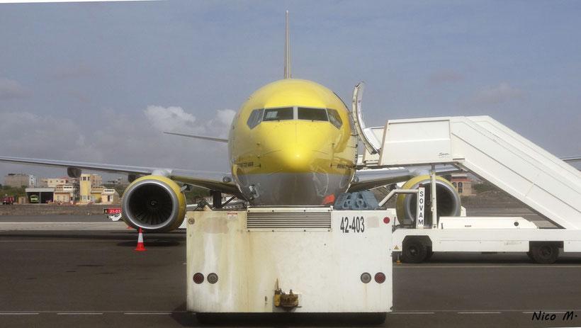TUIfly auf dem Vorfeld des Flughafen Boa Vista