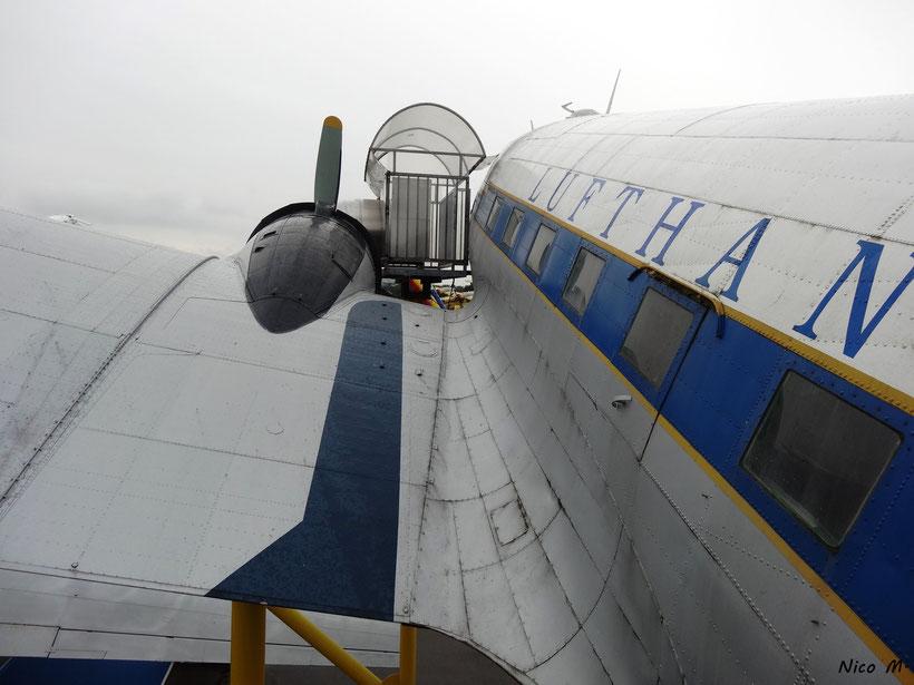 DC-3 die zuletzt im Linienflugbetrieb bei der Lufthansa eingesetzt wurde