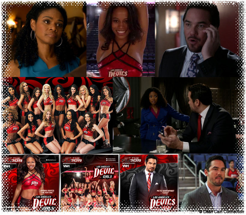 "This here is a collage of the ""Hit The Floor"" family Davenport/Hayes with Dean Cain as Pete Davenport, Kimberly Elise as Sloane Hayes and their series-daughter Taylour Paige as Ahsha Hayes."