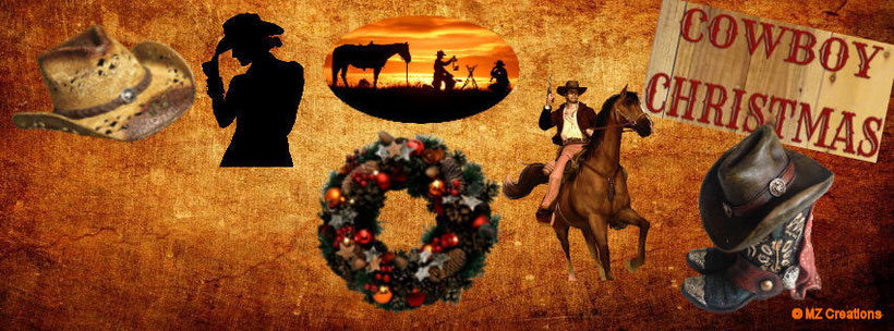 In this creation I've combinated the Country/Western Style with Christmas. I've made some different versions, this one without a frame. ;-)