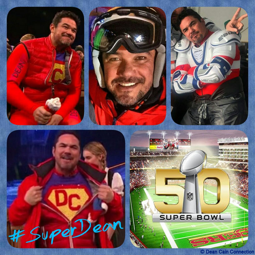 "That's my creation I've made for supporting Dean in the second episode of the show ""The Jump"" which aired on the ""Super Bowl 50"" Sunday. ;-)"