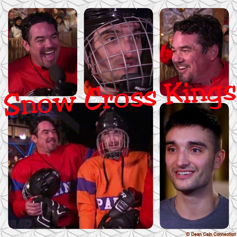 "This creation I've made and called Dean Cain & Tom Parker ""Snow Cross Kings"" because they both were awesome in this sport at the ""The Jump"" show. ;-)"