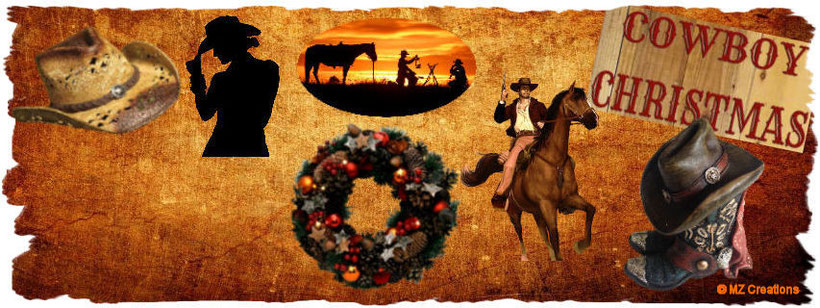 "This one of my combinated Country/Western/Christmas Style creation is with a frame. The other one I've made esp. for Christmas is with a snowflake-frame which you can see in the other category ""Christmas Style Creations"". PLZ check it out!!! ;-)"
