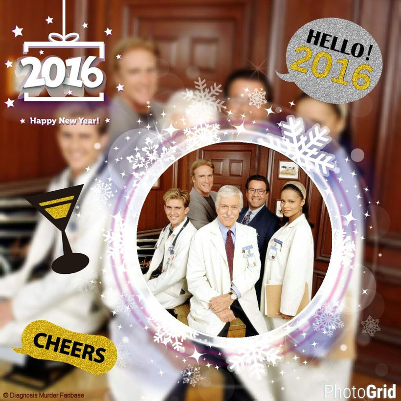 "That was my New Year 2016 Creation I've made with the App ""Foto-Gitter"" for my Instagram-account ""Diagnosis Murder Fanbase""."